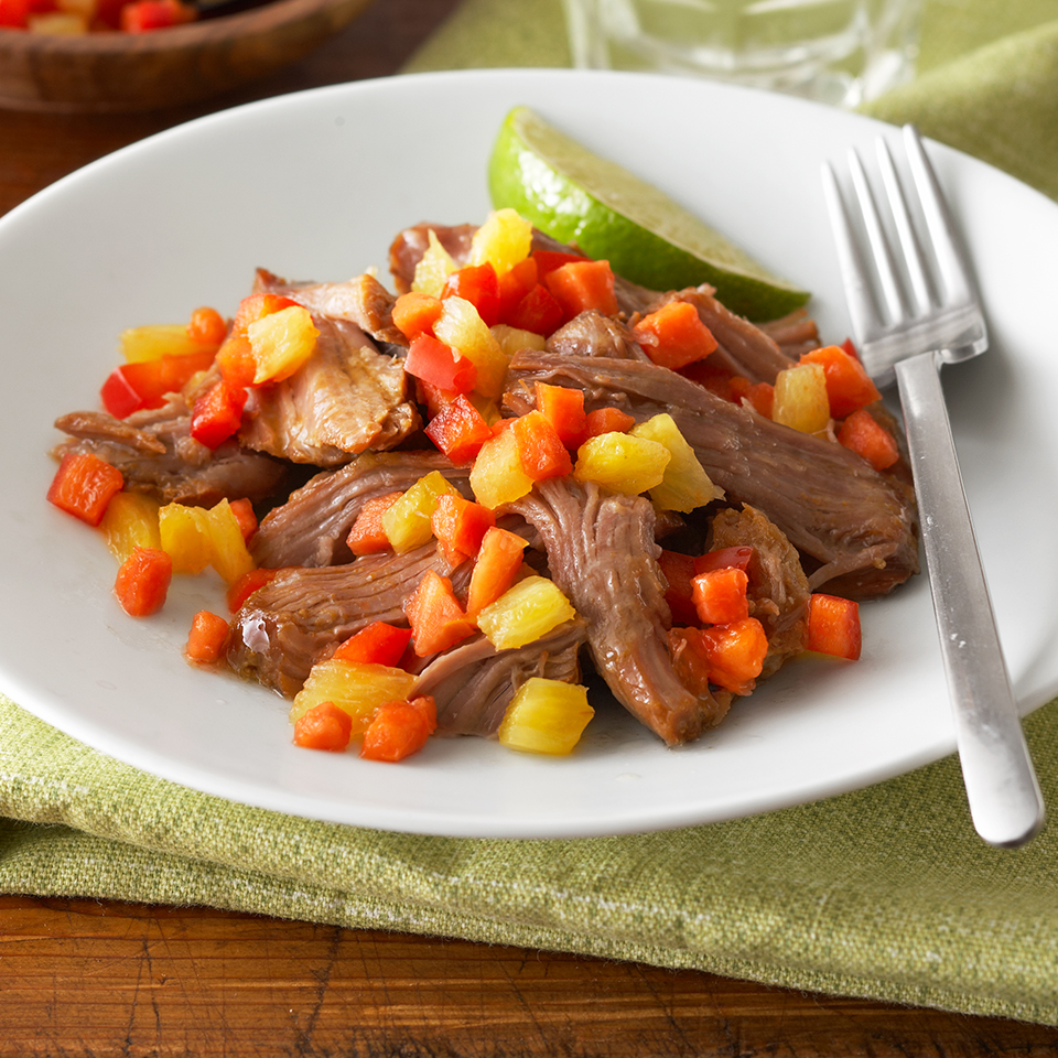 Shredded Pork with Fruit Relish Diabetic Living Magazine