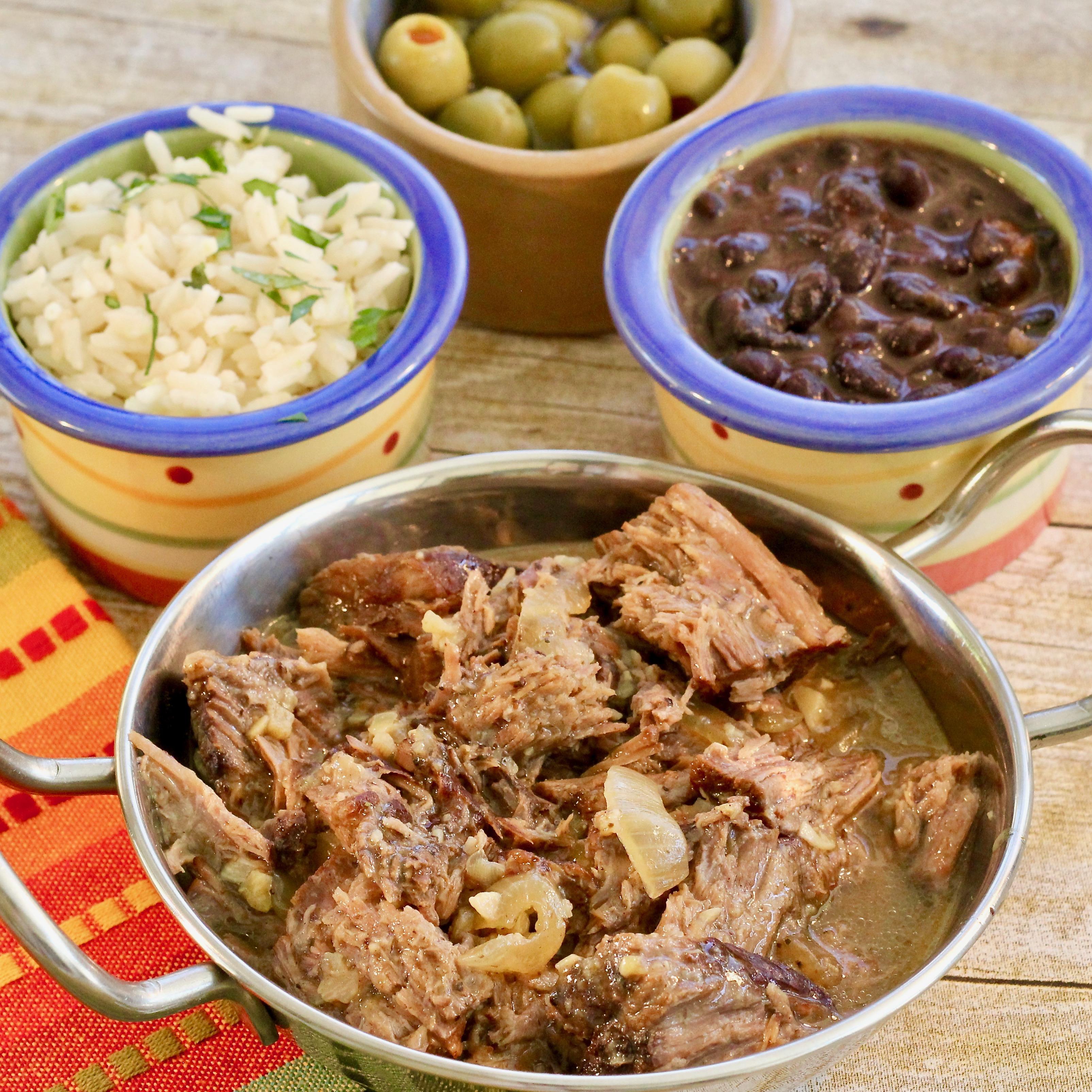 Shredded Slow Cooker Cuban Beef