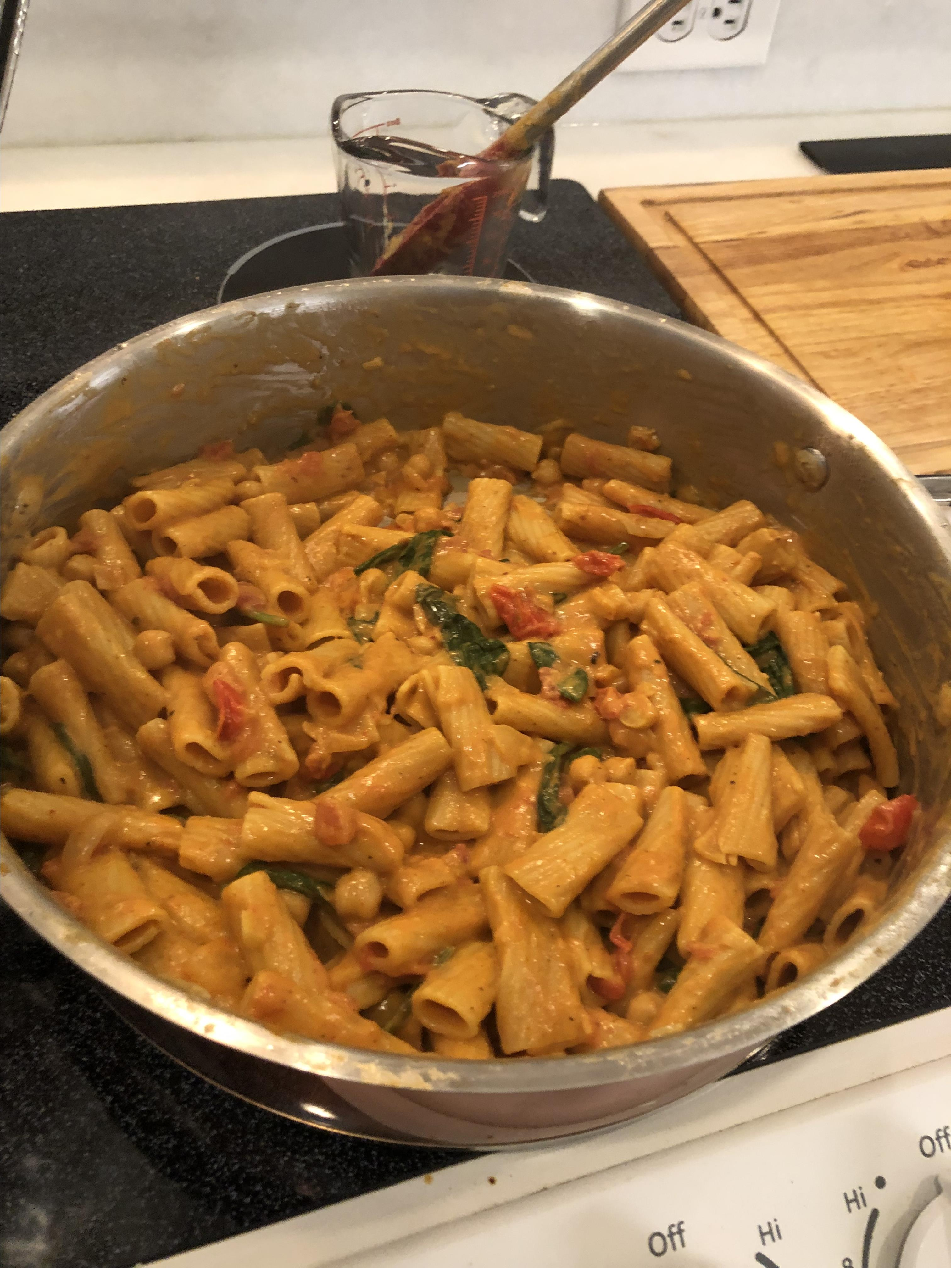 Vegan One-Pot Coconut Curry with Pasta and Vegetables KatieMarieWW