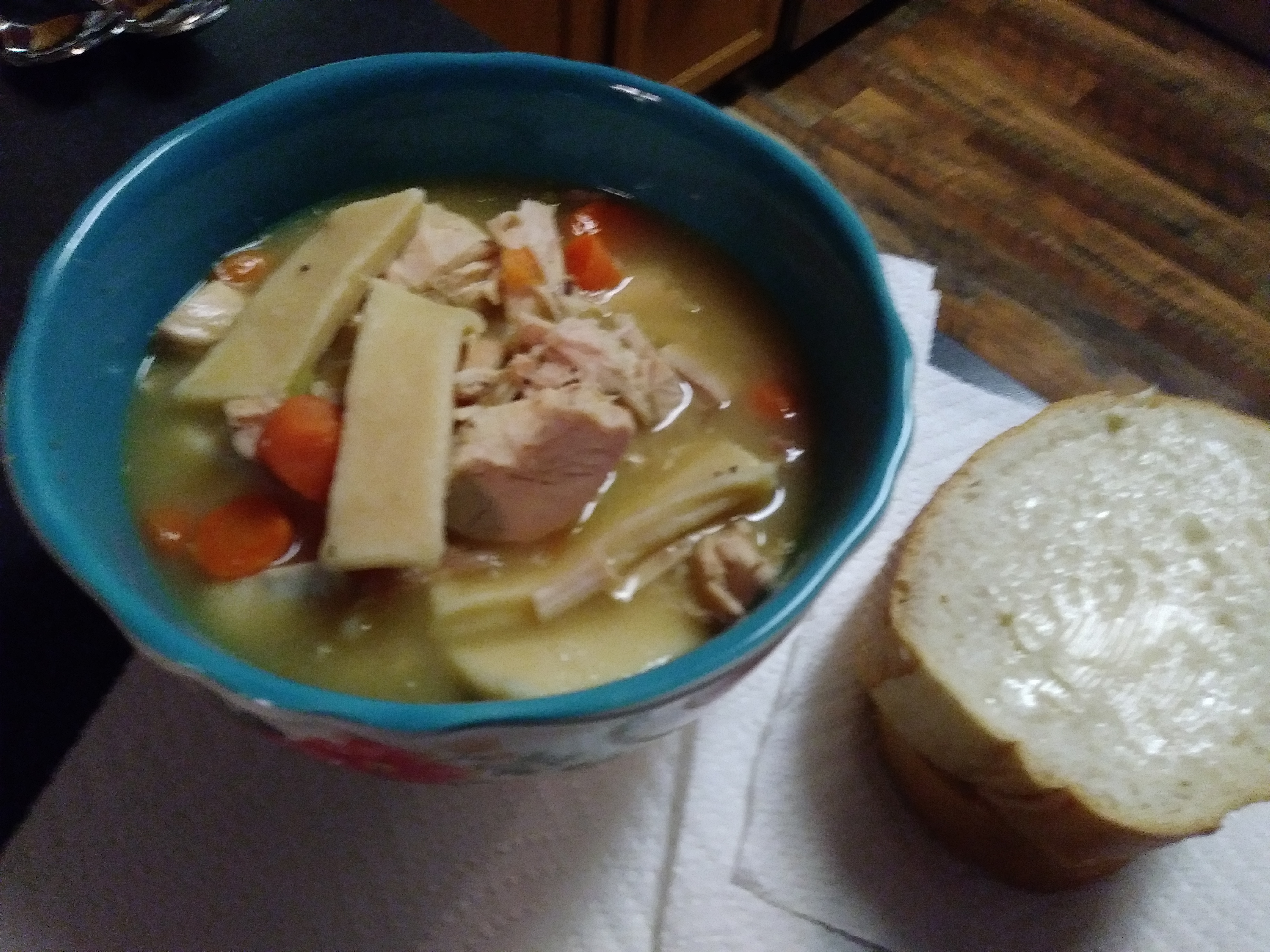 Grandma's Chicken Soup with Homemade Noodles Gina Montour