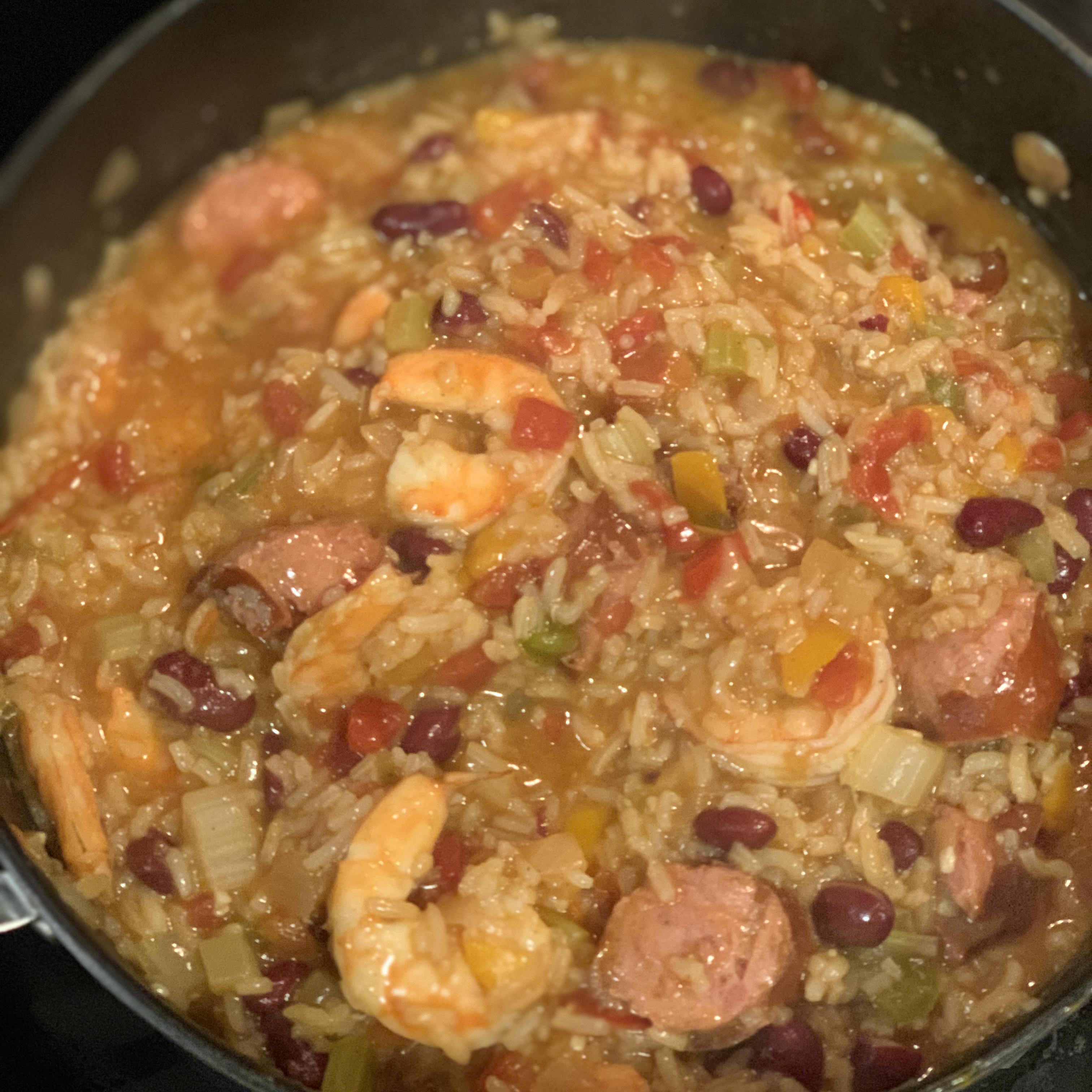 Shrimp and Smoked Sausage Jambalaya