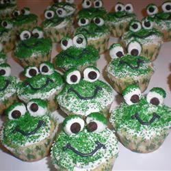 Frog Cupcakes Kim's Cooking Now