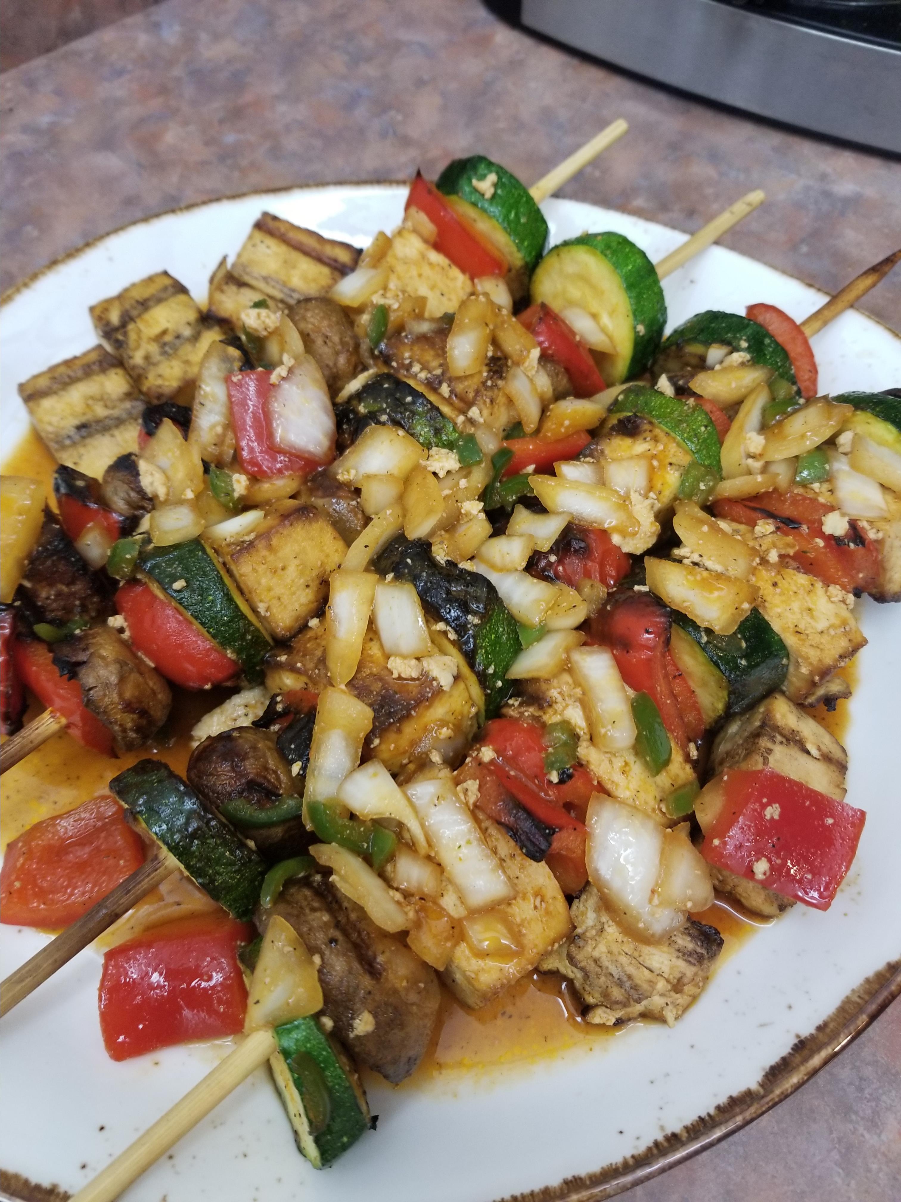 Grilled Tofu Skewers with Sriracha Sauce Kerrin Beirne