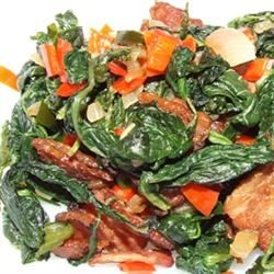 Creamed Spinach with Onions and Bacon