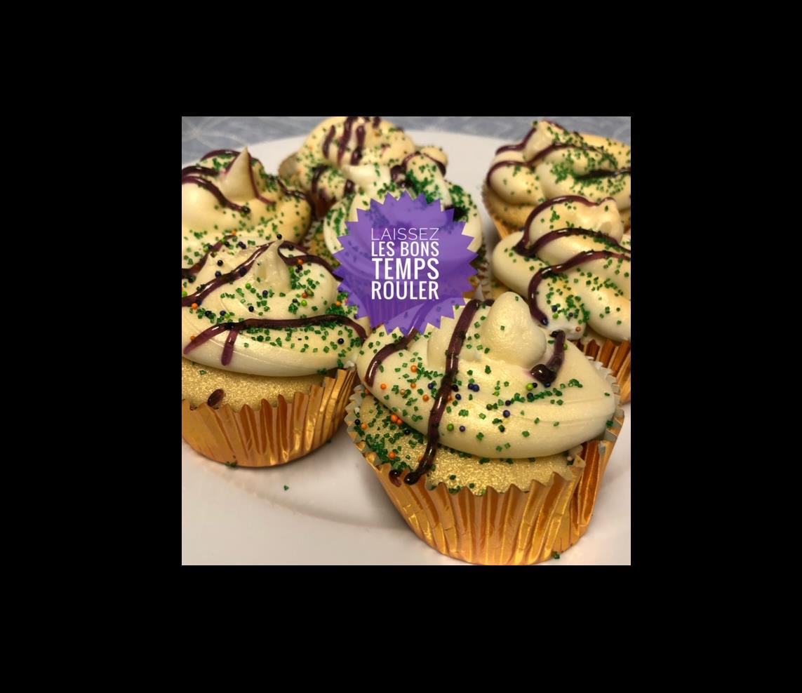 King Cake Cupcakes Amber North