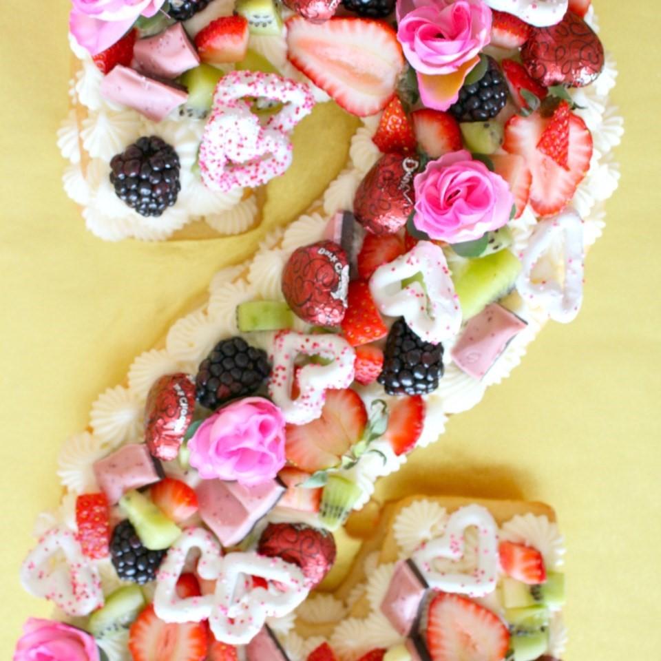 Cream Tart Number Cake