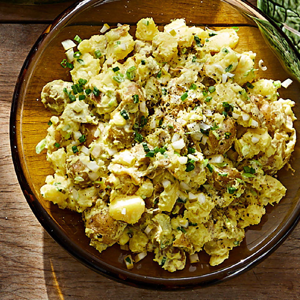 Mashed New Potato Salad with Spring Onions Allrecipes Trusted Brands