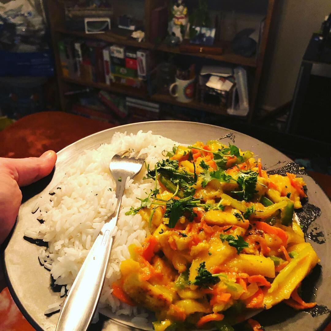 Spicy Vegan Mango and Tofu Stir-Fry