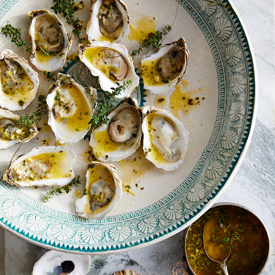 Grilled Oysters with Garlic-Herb Butter Robb Walsh