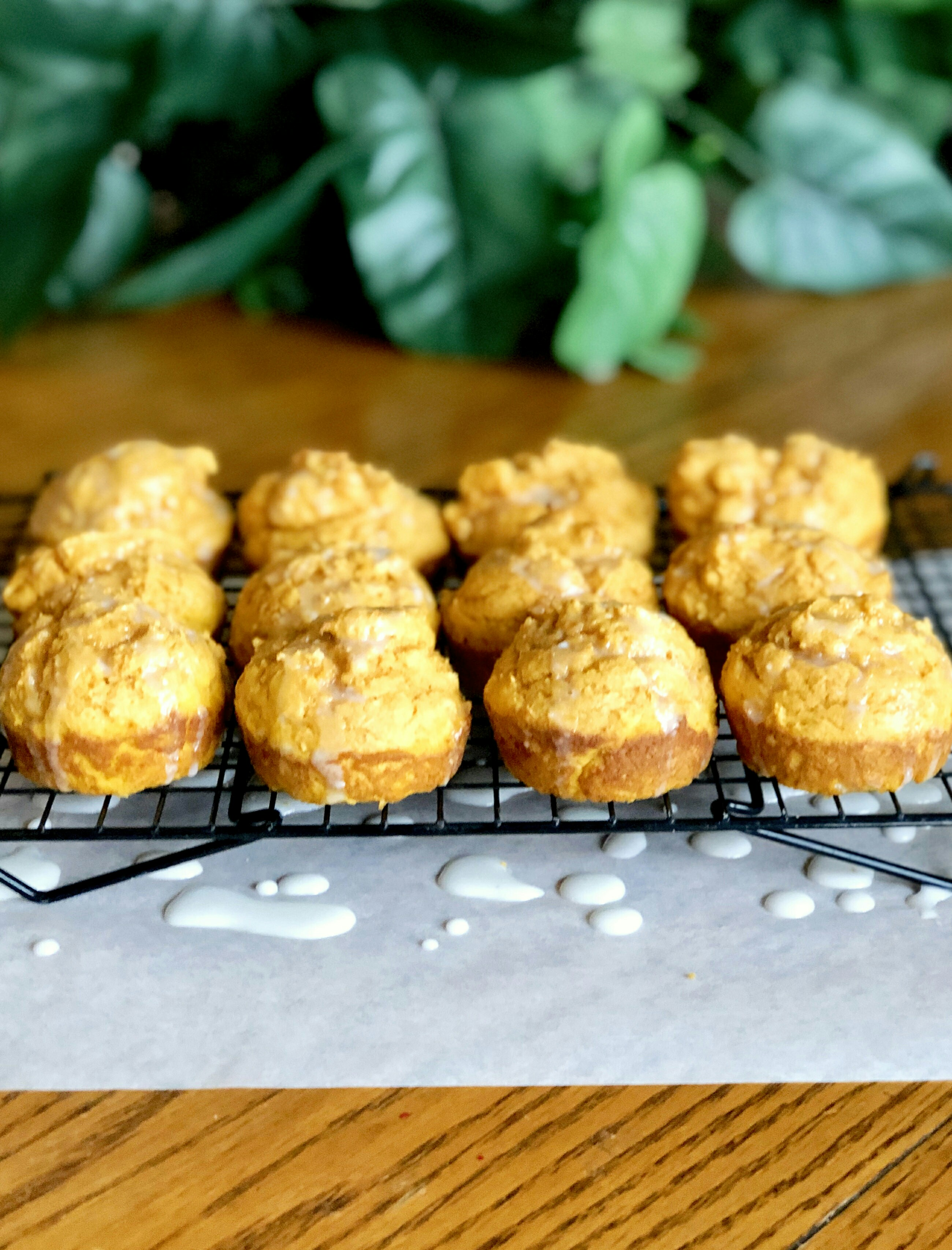 Easy Pancake Mix Muffins with Pumpkin and Ginger