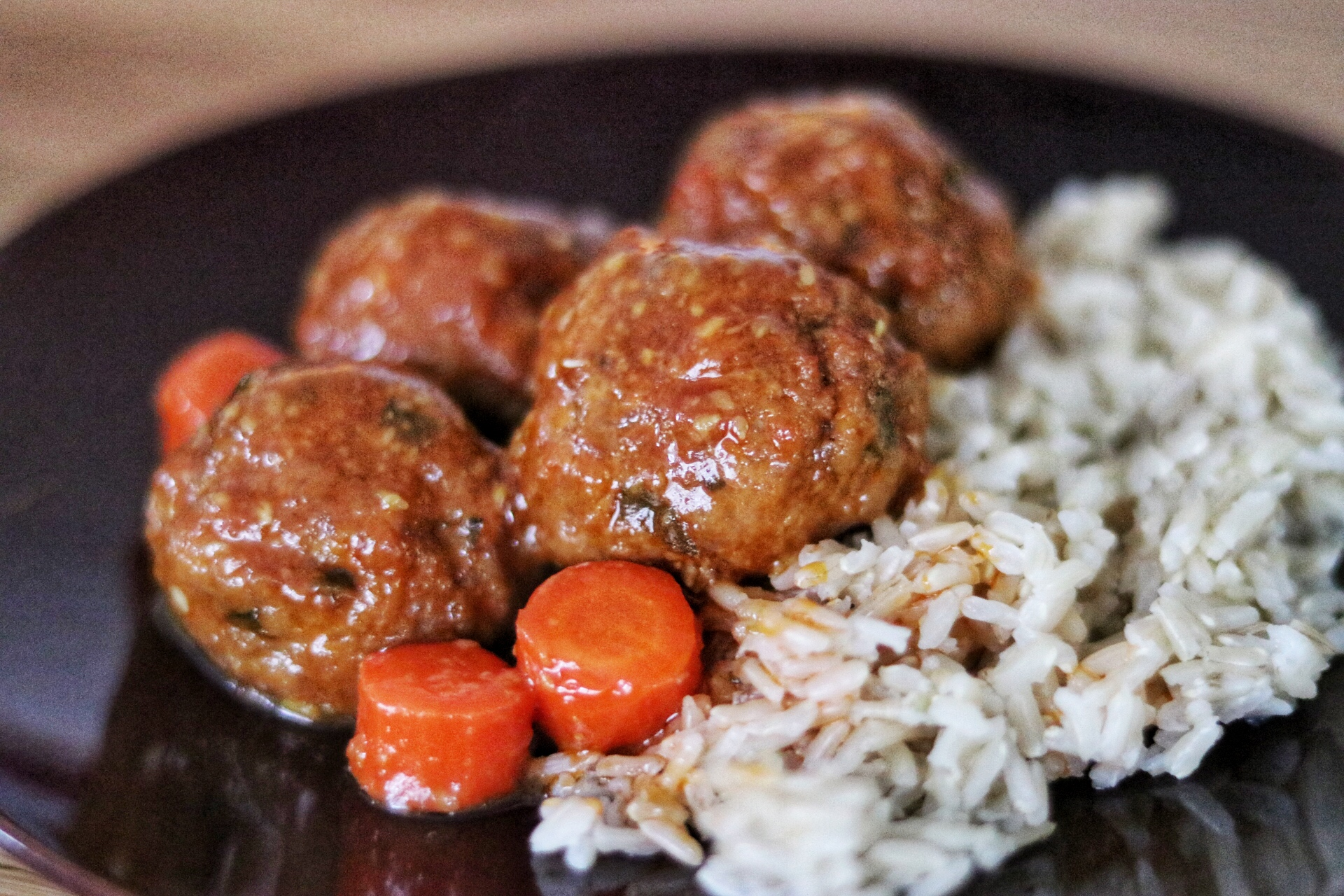 Asian Sesame Sweet-and-Sour Turkey Meatballs