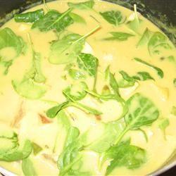 Curried Spinach Soup Kristi Baum