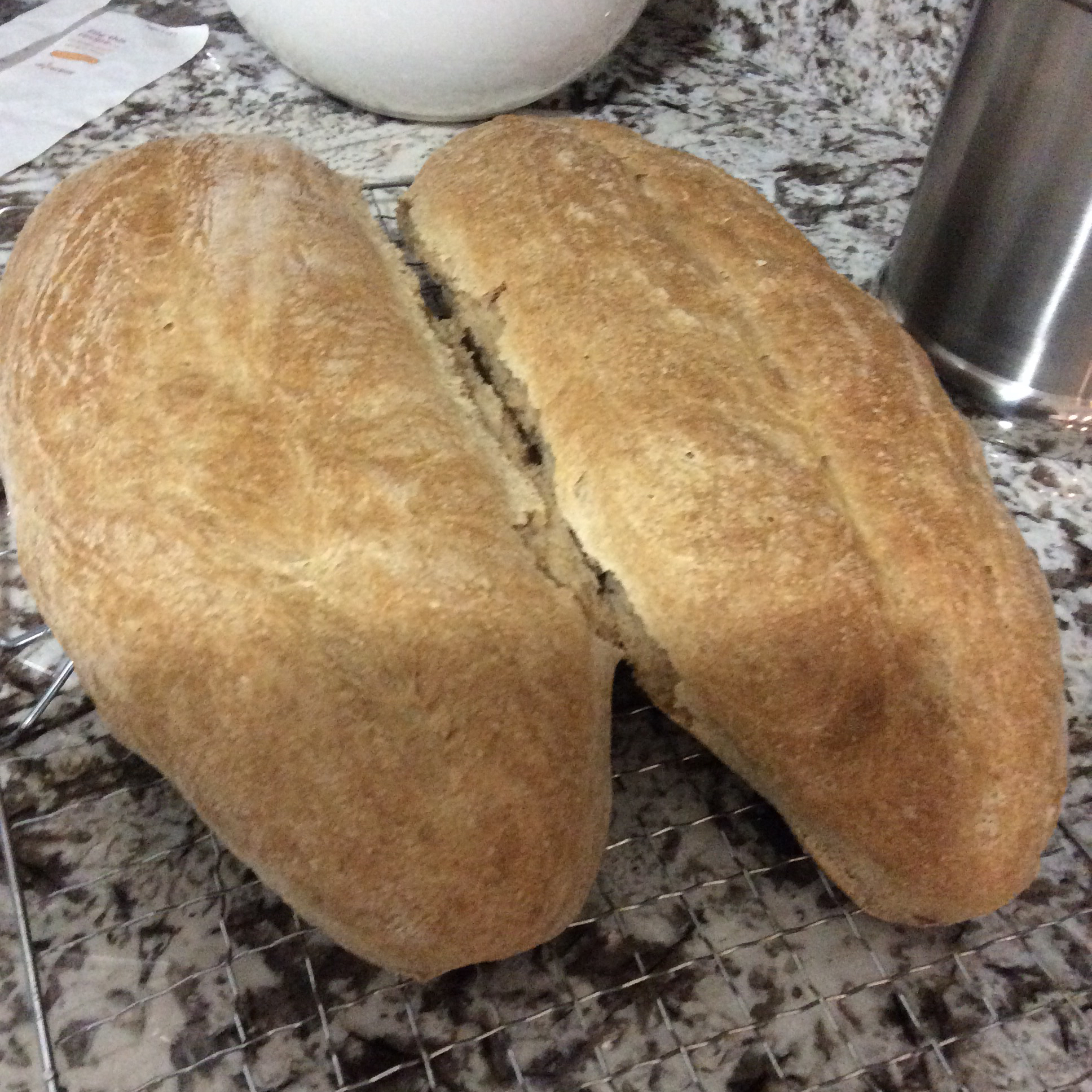 Rustic Whole Wheat Bread good eats