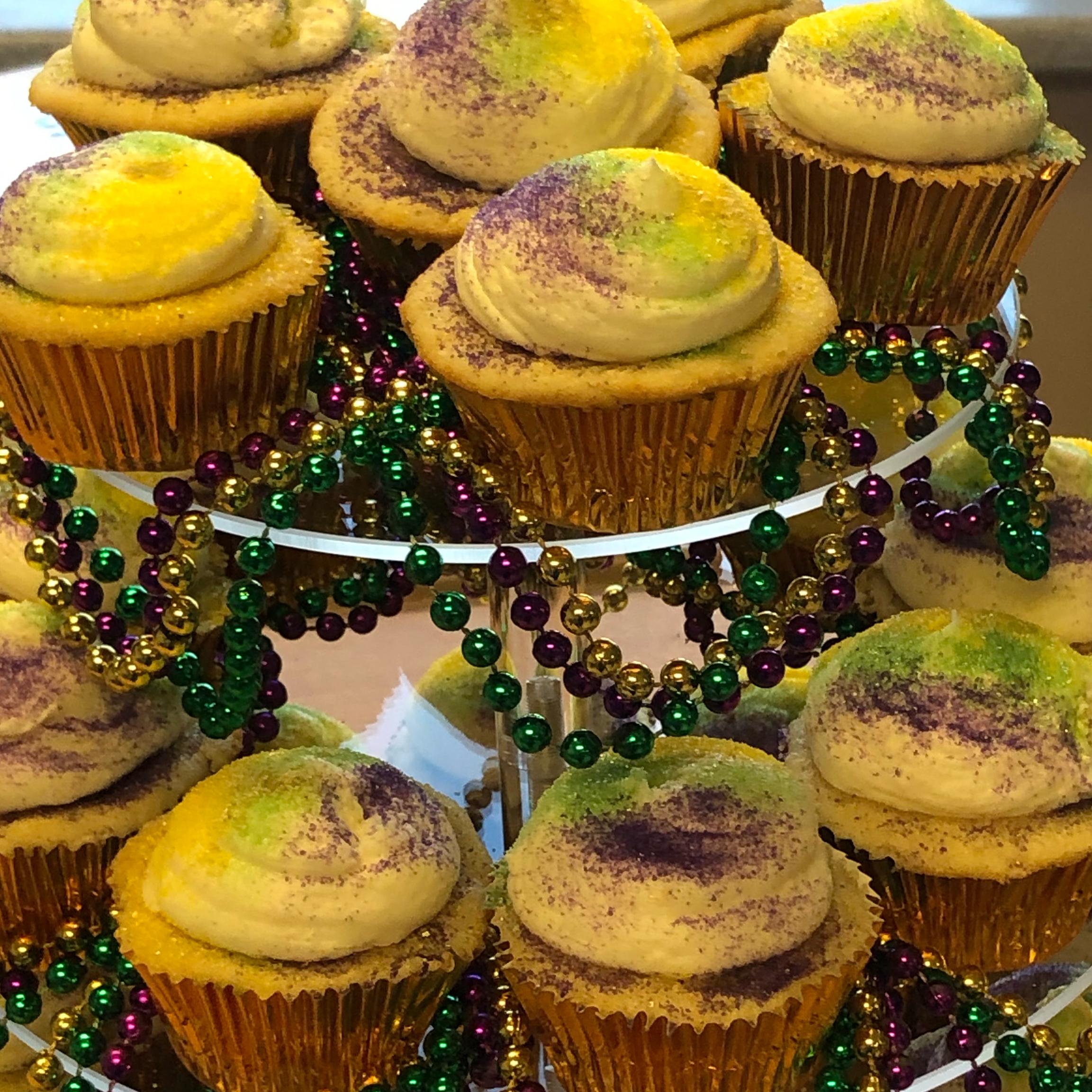 King Cake Cupcakes sally