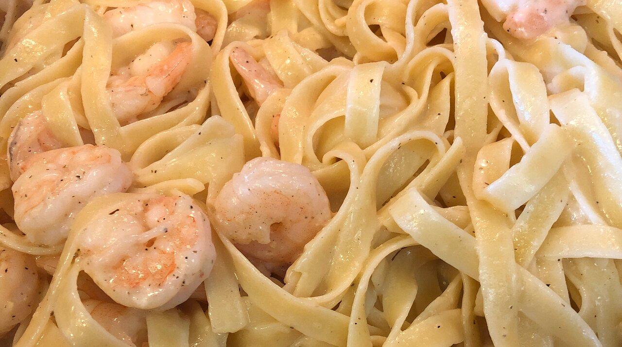 Lemon Pepper Pasta Seafood