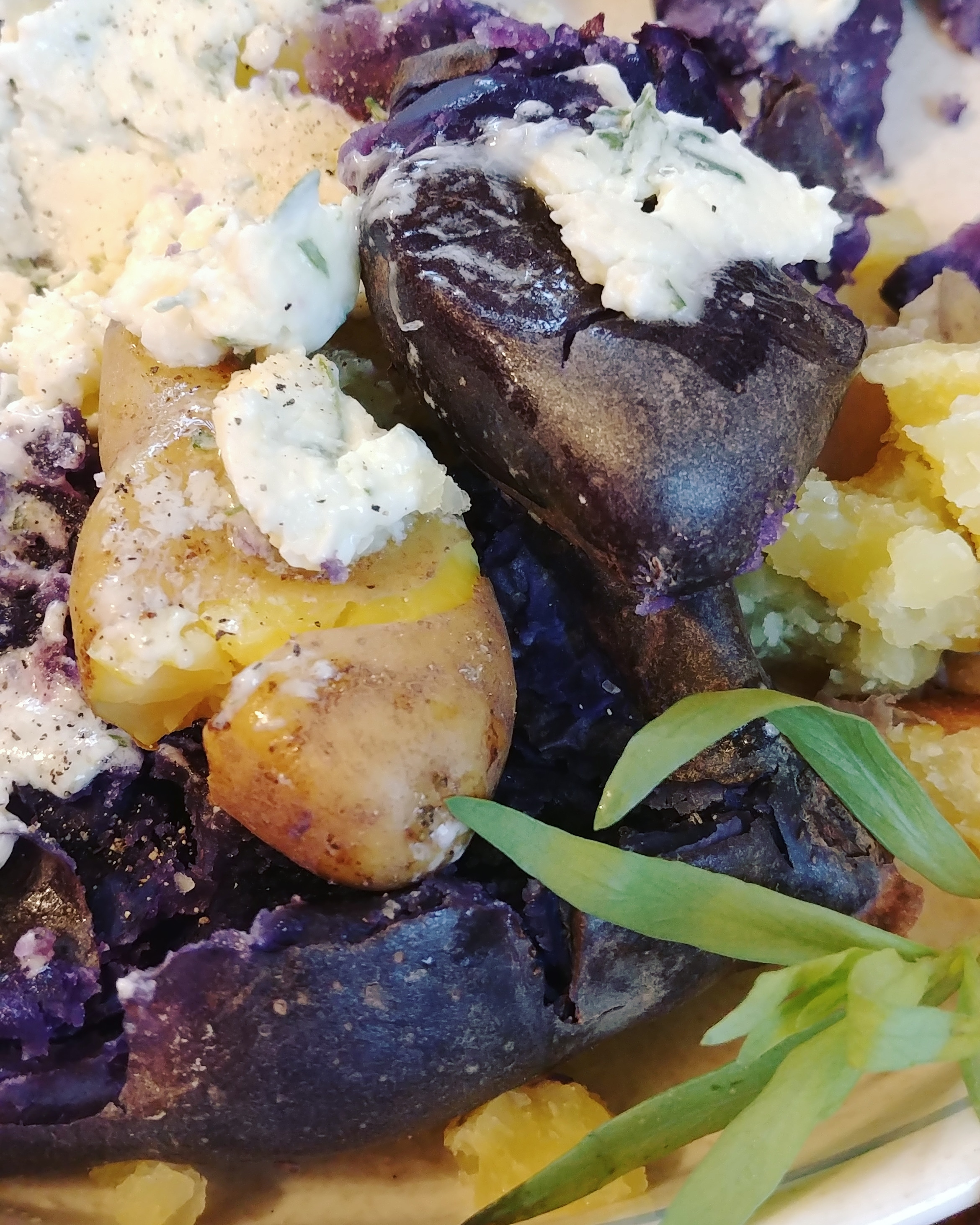 Fingerling Potatoes with Tarragon Chive Butter Chef Mo
