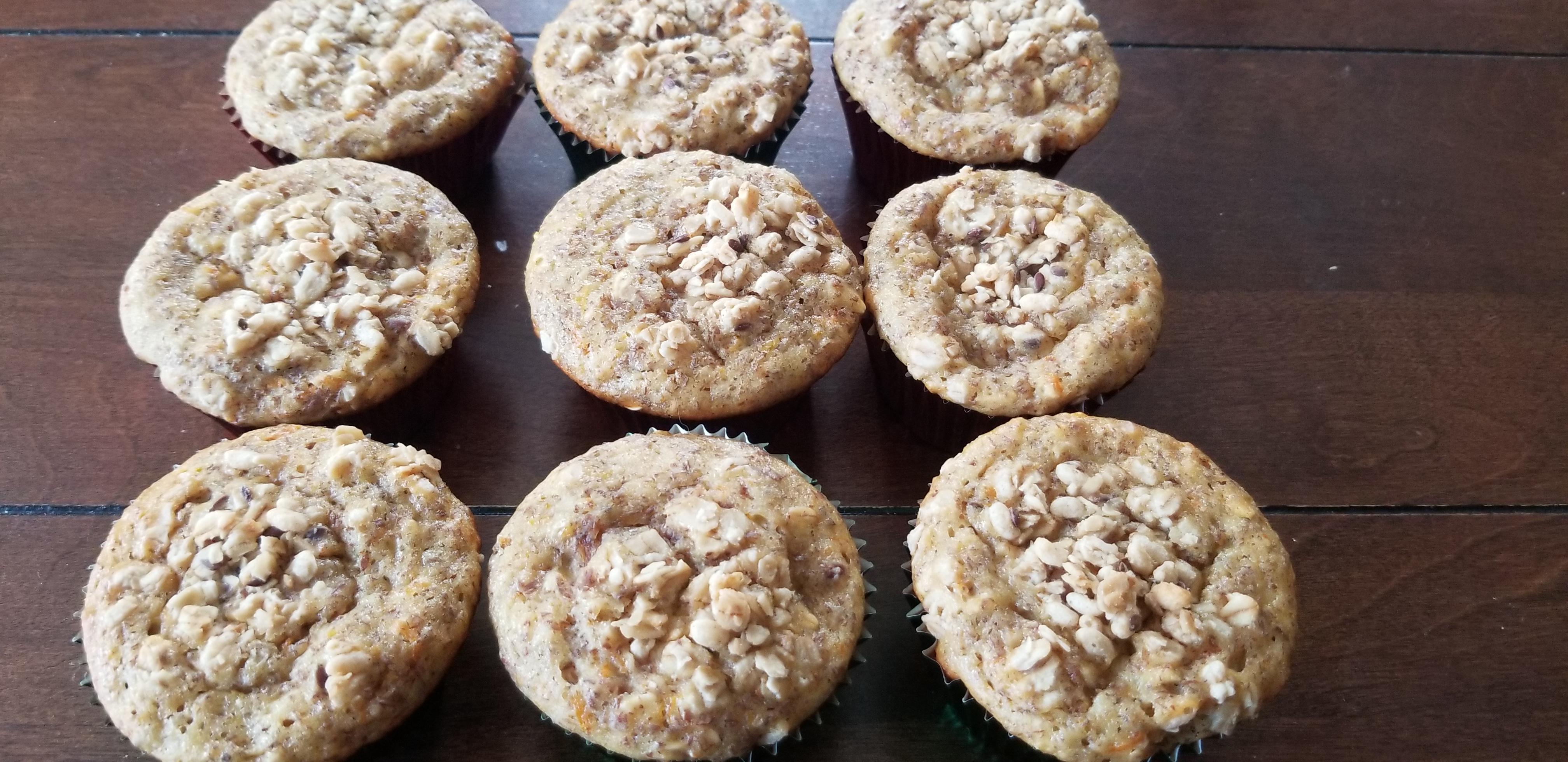 Honey-Orange Oatmeal Muffins