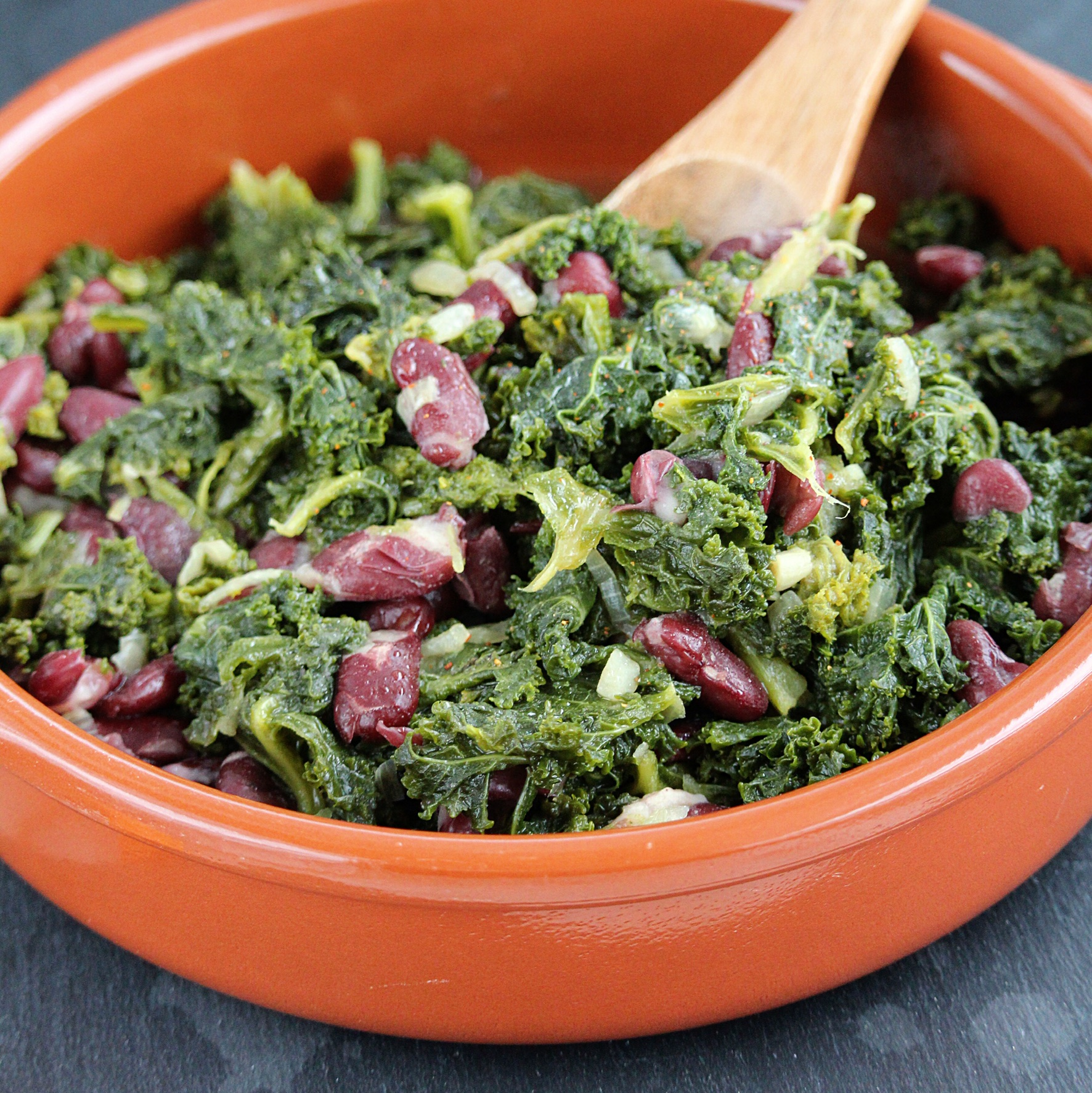 Braised Kale and Beans