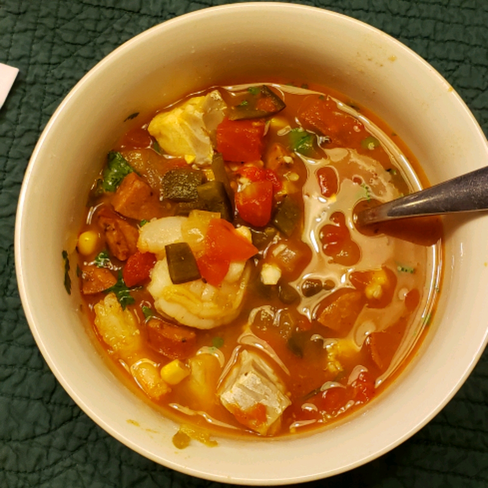 Spicy Tomato, Seafood, and Chorizo Stew