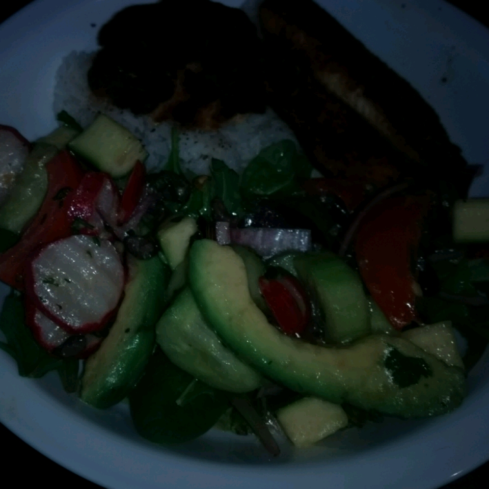 Cucumber Tomato Salad with Zucchini and Black Olives in Lemon Balsamic Vinaigrette CTP
