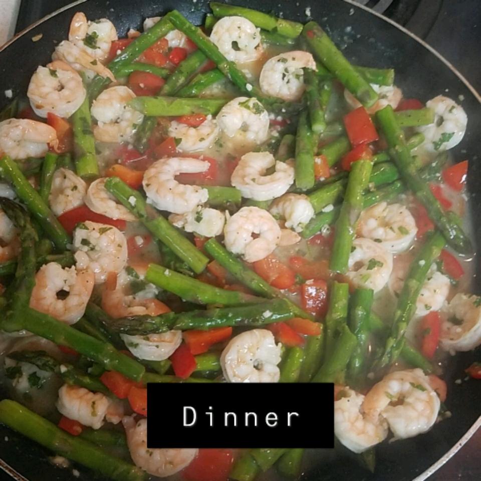 Lemon-Garlic Shrimp & Vegetables Kylie Newlun