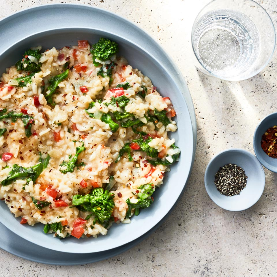 Risotto with Broccoli Rabe & Red Pepper