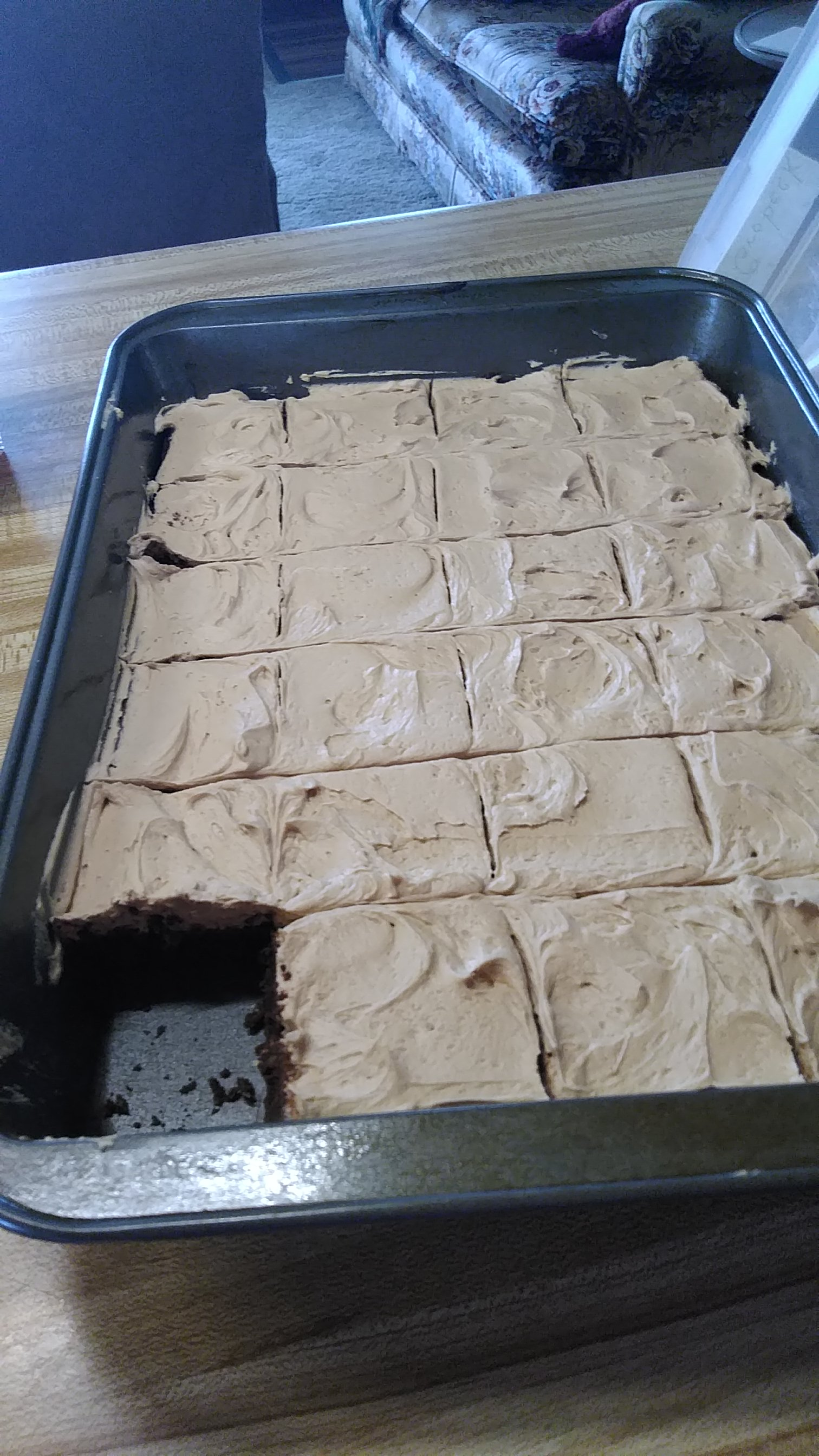 Mocha Brownies with Coffee Frosting sweetpea