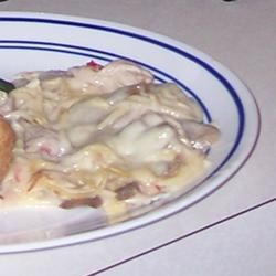 Chicken Tetrazzini for a Crowd pomplemousse
