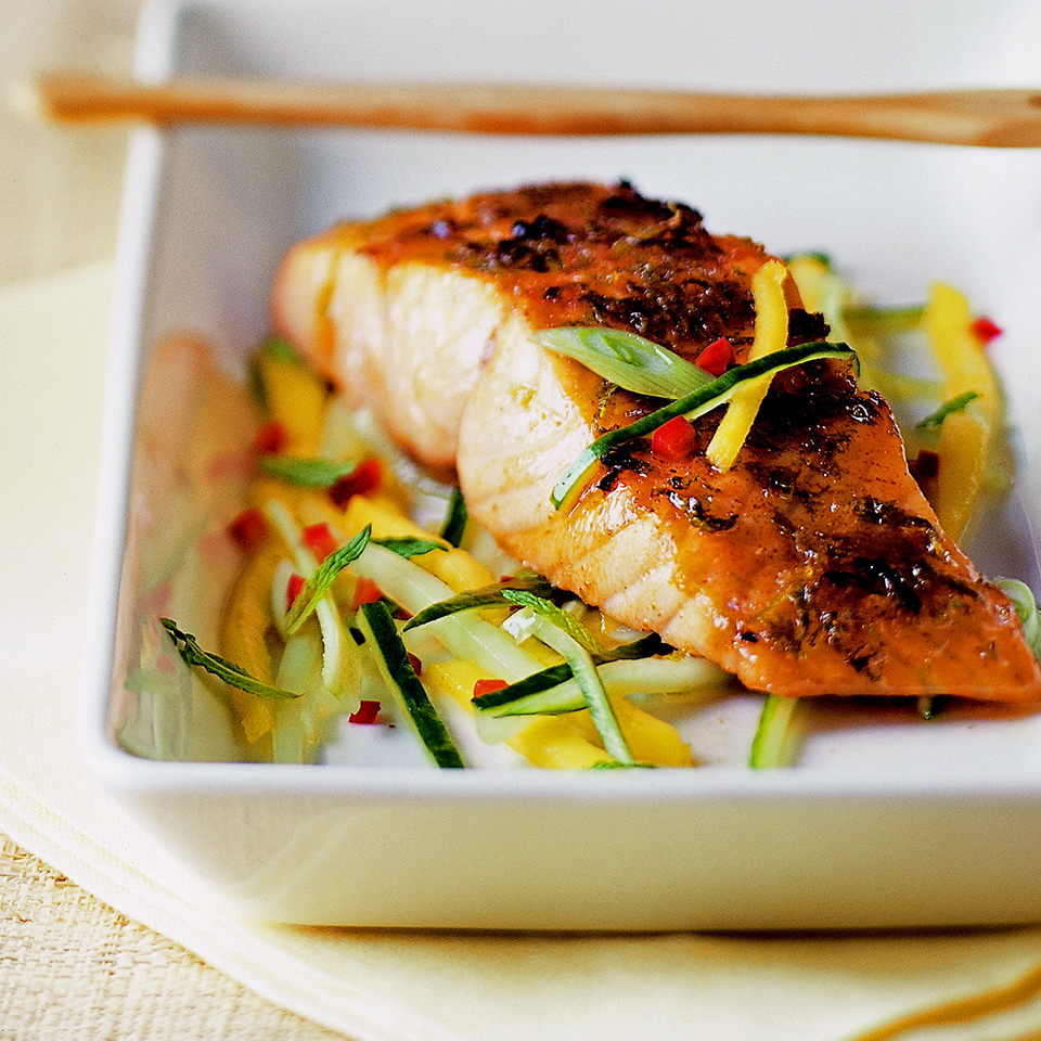 Salmon with Mango Salsa Trusted Brands