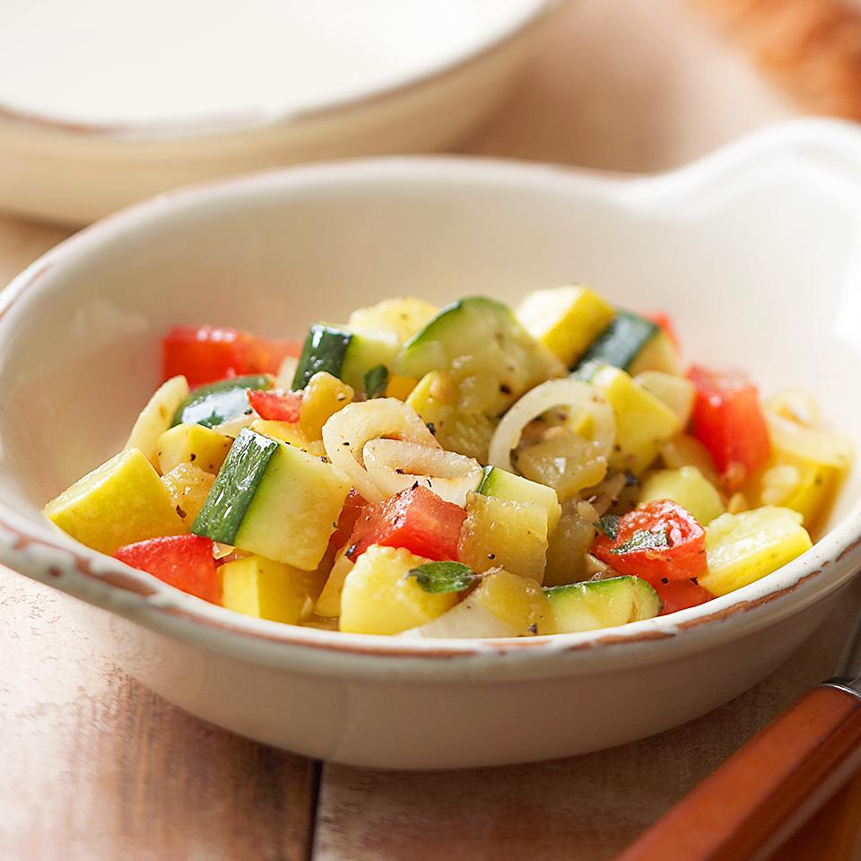 Skillet Zucchini & Summer Squash Diabetic Living Magazine