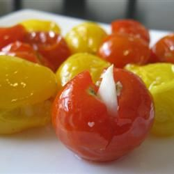 Baked Cherry Tomatoes with Garlic mommyluvs2cook