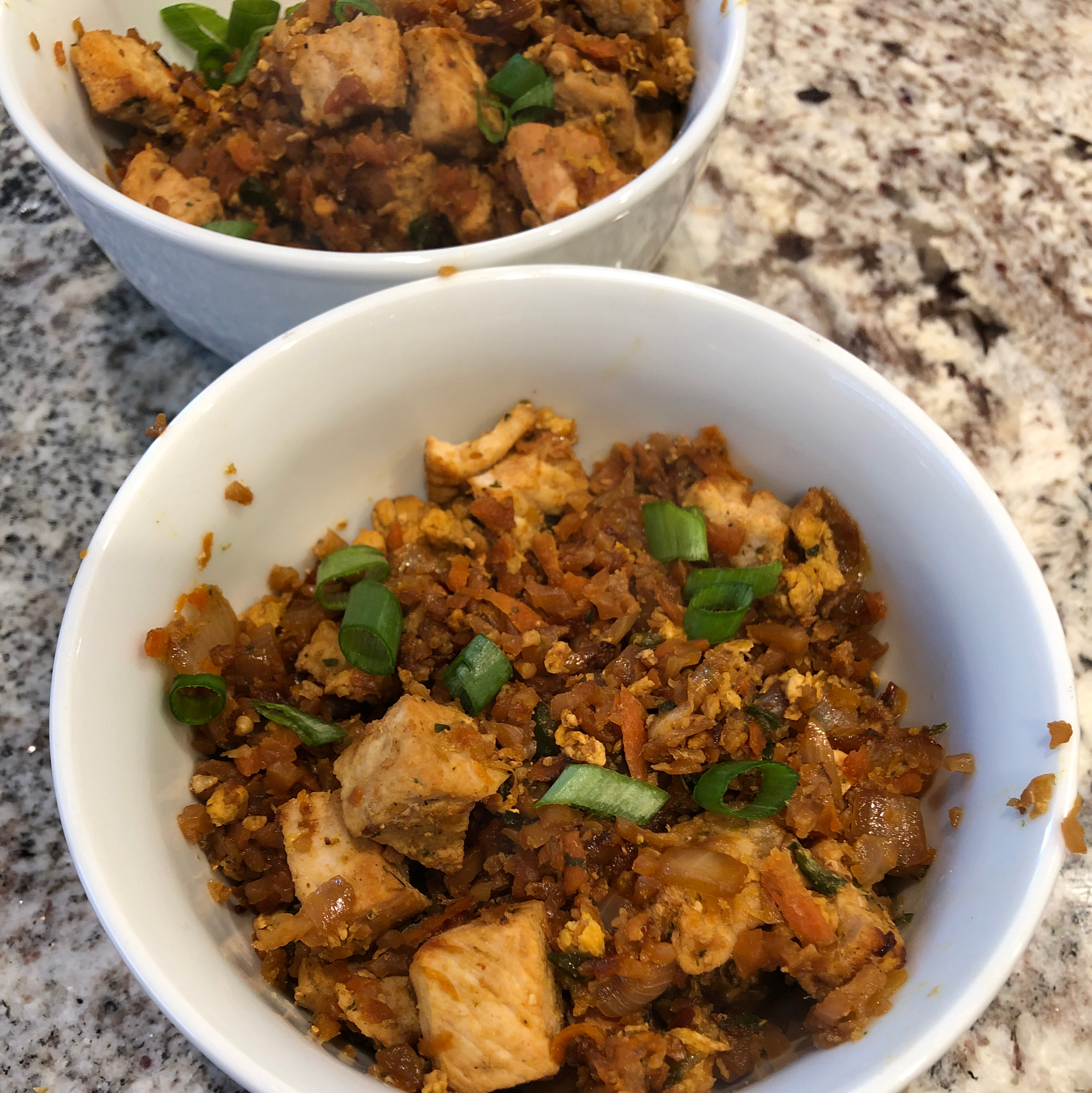 Spicy Cauliflower Fried 'Rice' with Pork