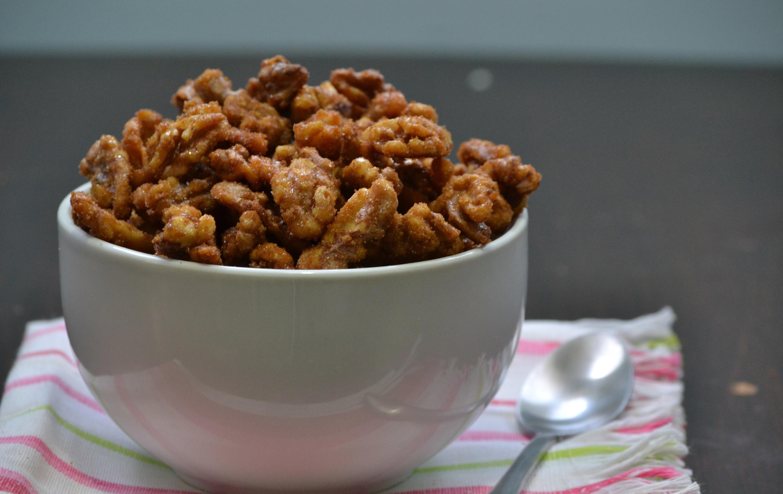 Honey-Roasted Cayenne Walnuts larmcc