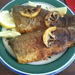 Pan Fried Whole Trout