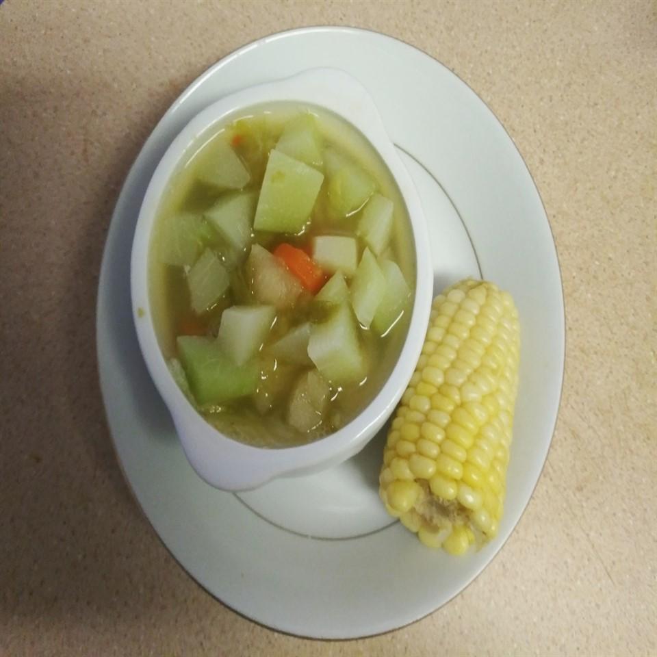 Corn and Chayote Squash Soup