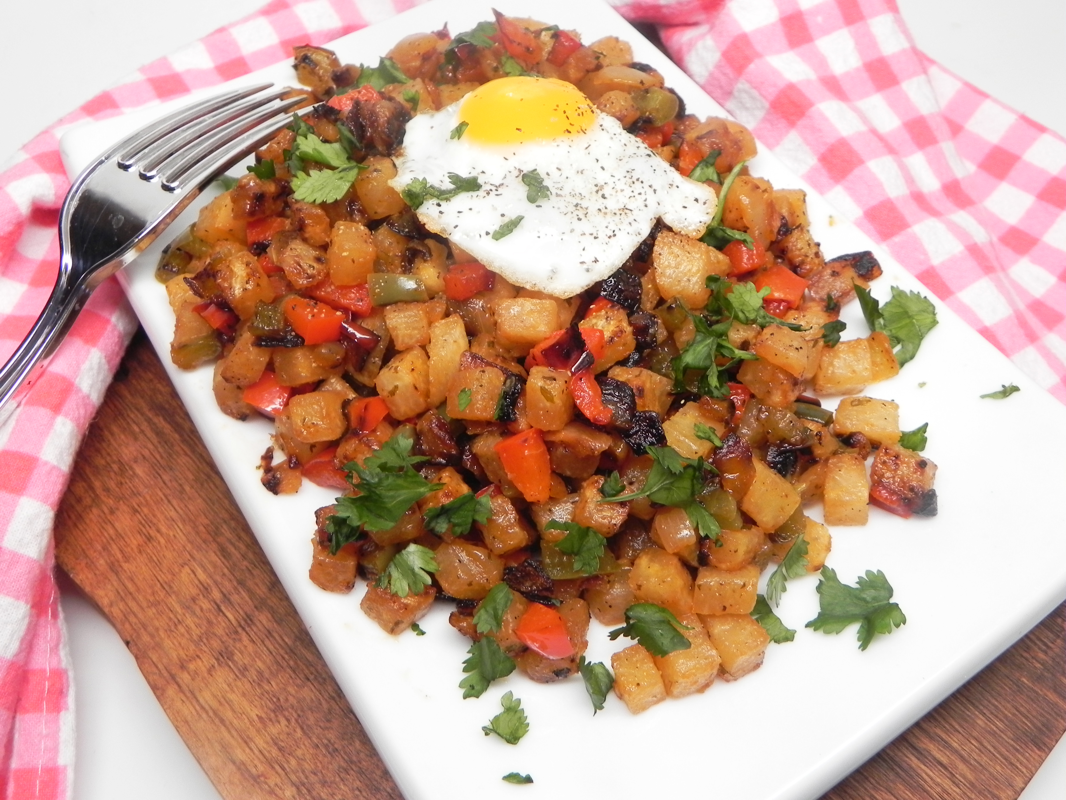 Jicama Hash Browns O'Brien