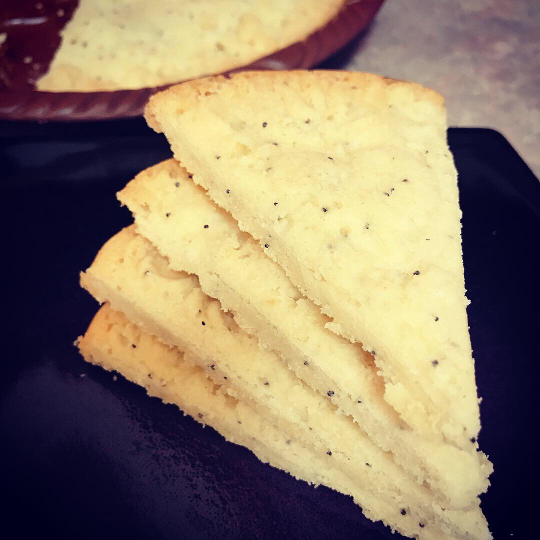 Poppy Seed Shortbread Petticoat Tails thedailygourmet