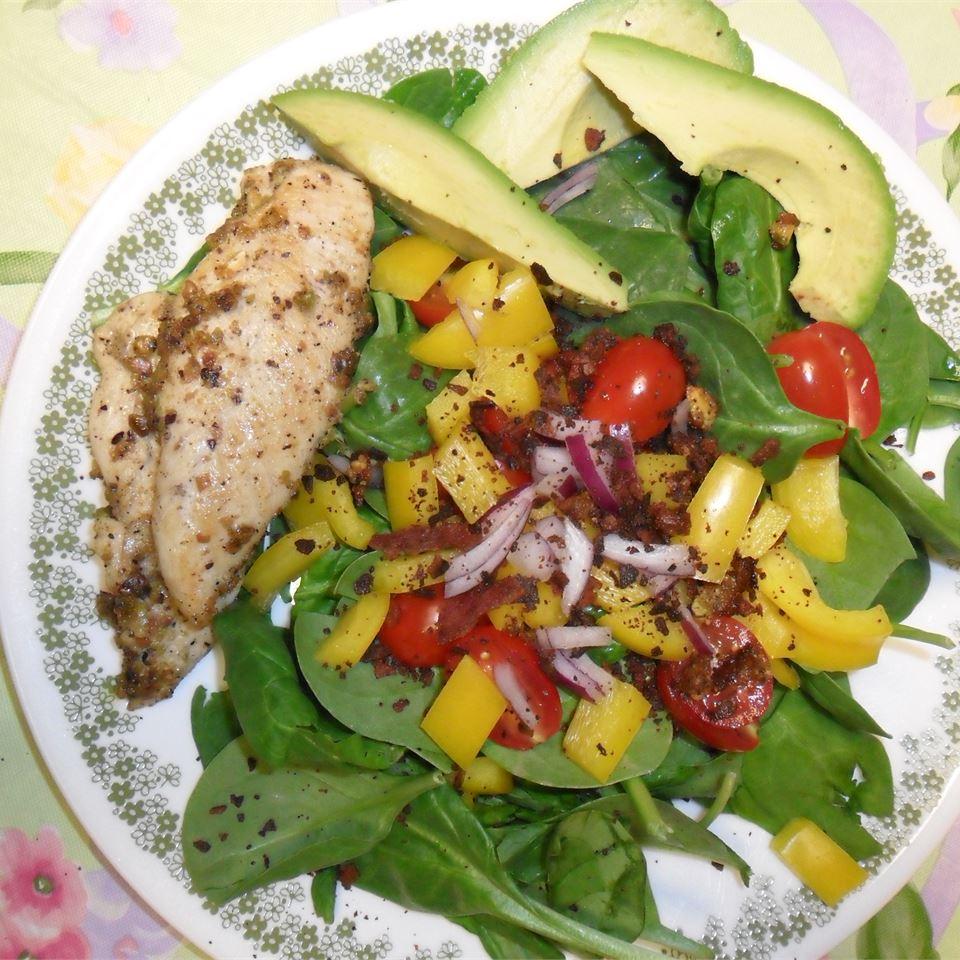 Spinach Salad with Pistachio Chicken copemcavoy