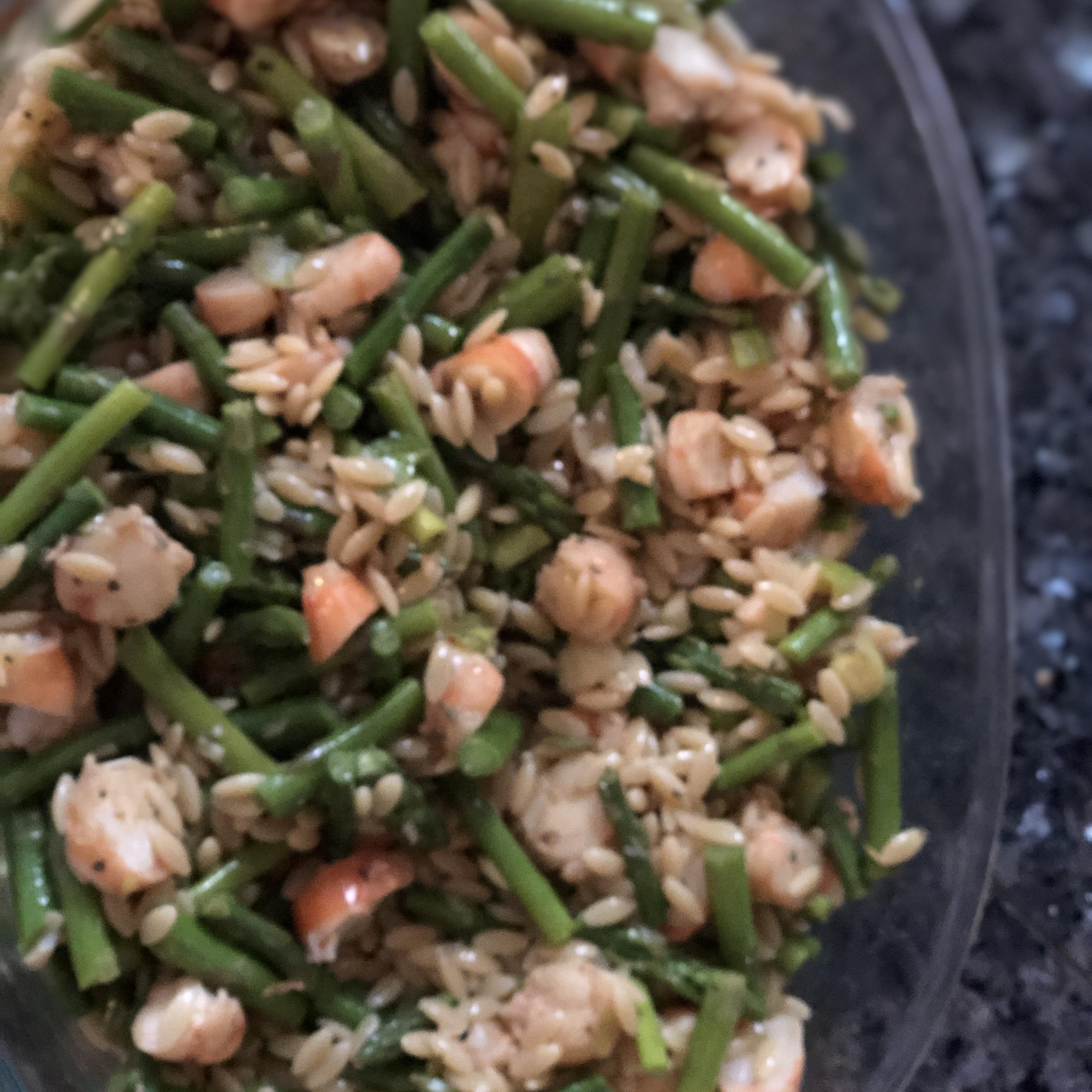 Orzo and Shrimp Salad with Asparagus