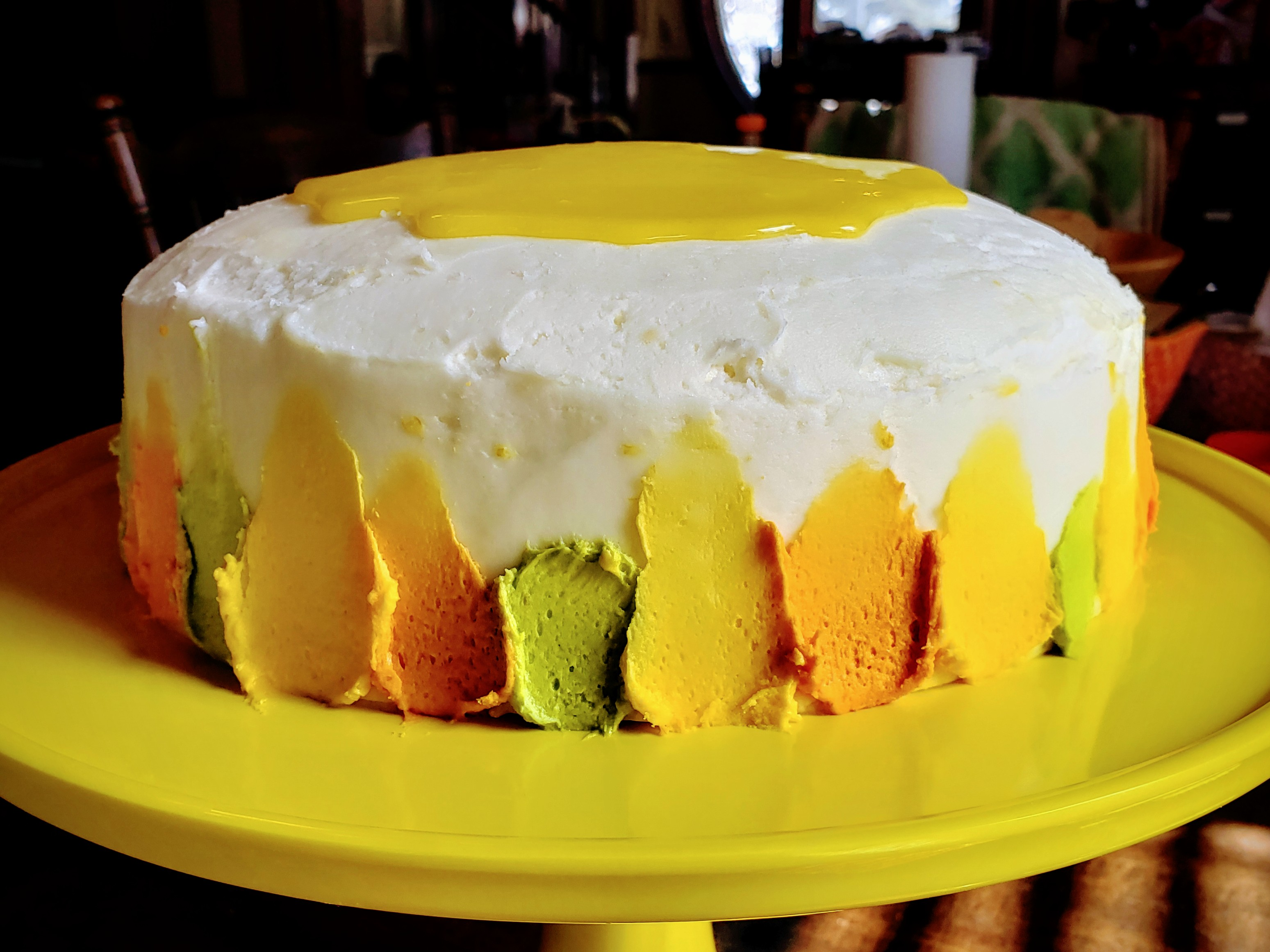 Lemon Cake with Lemon Filling and Lemon Butter Frosting