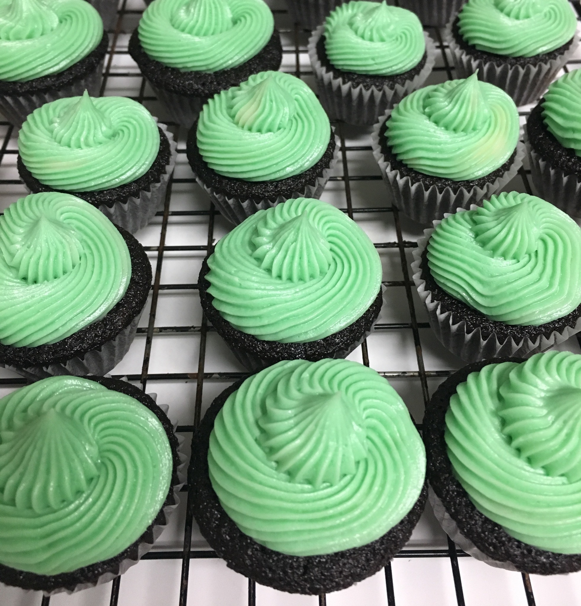 Chocolate Guinness® Cupcakes with Irish Cream Frosting Thea Thea