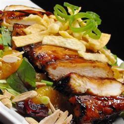 Grilled Wonton Chicken Salad bellepepper