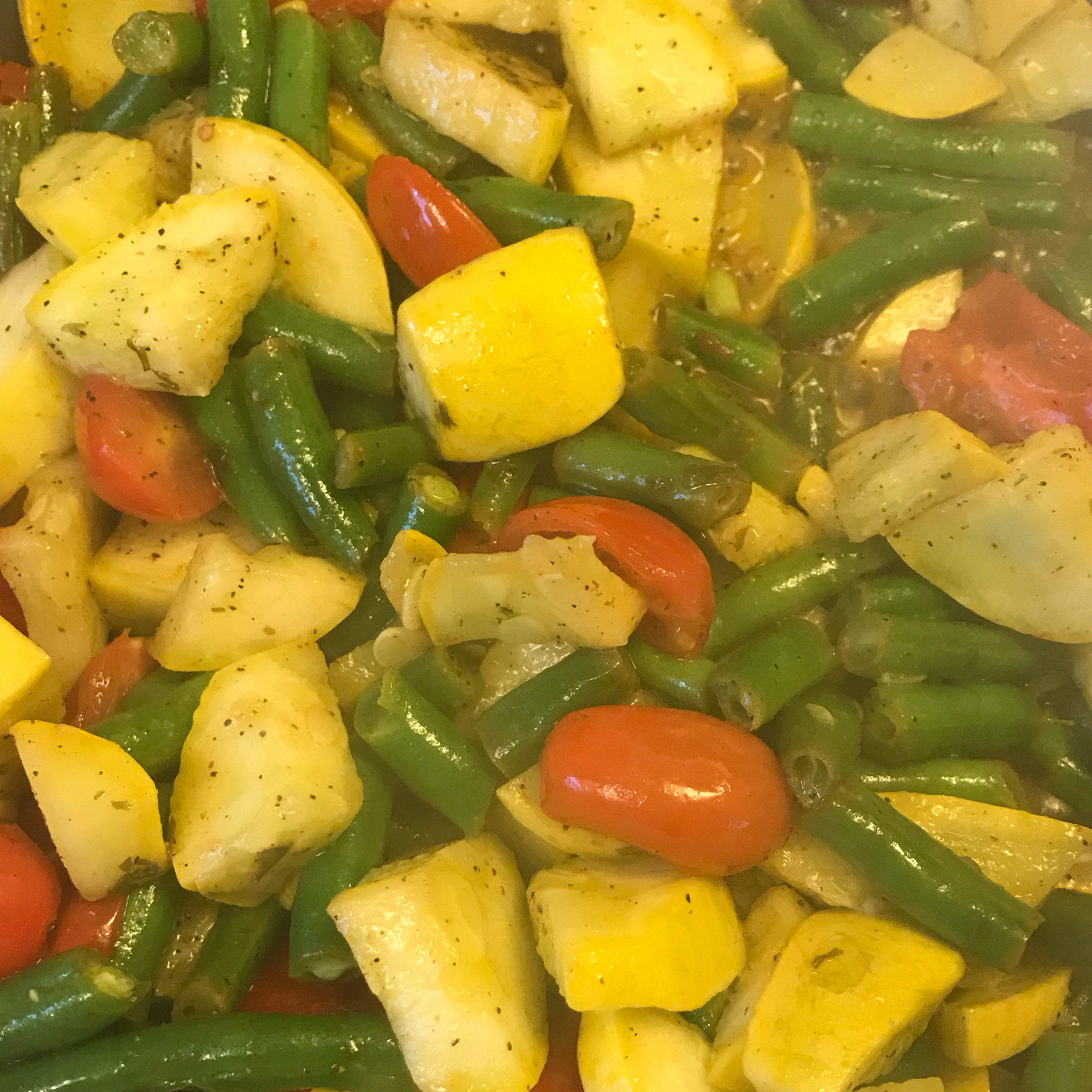 Squash and Green Bean Saute Side Dish Gloria Ramirez Trejo