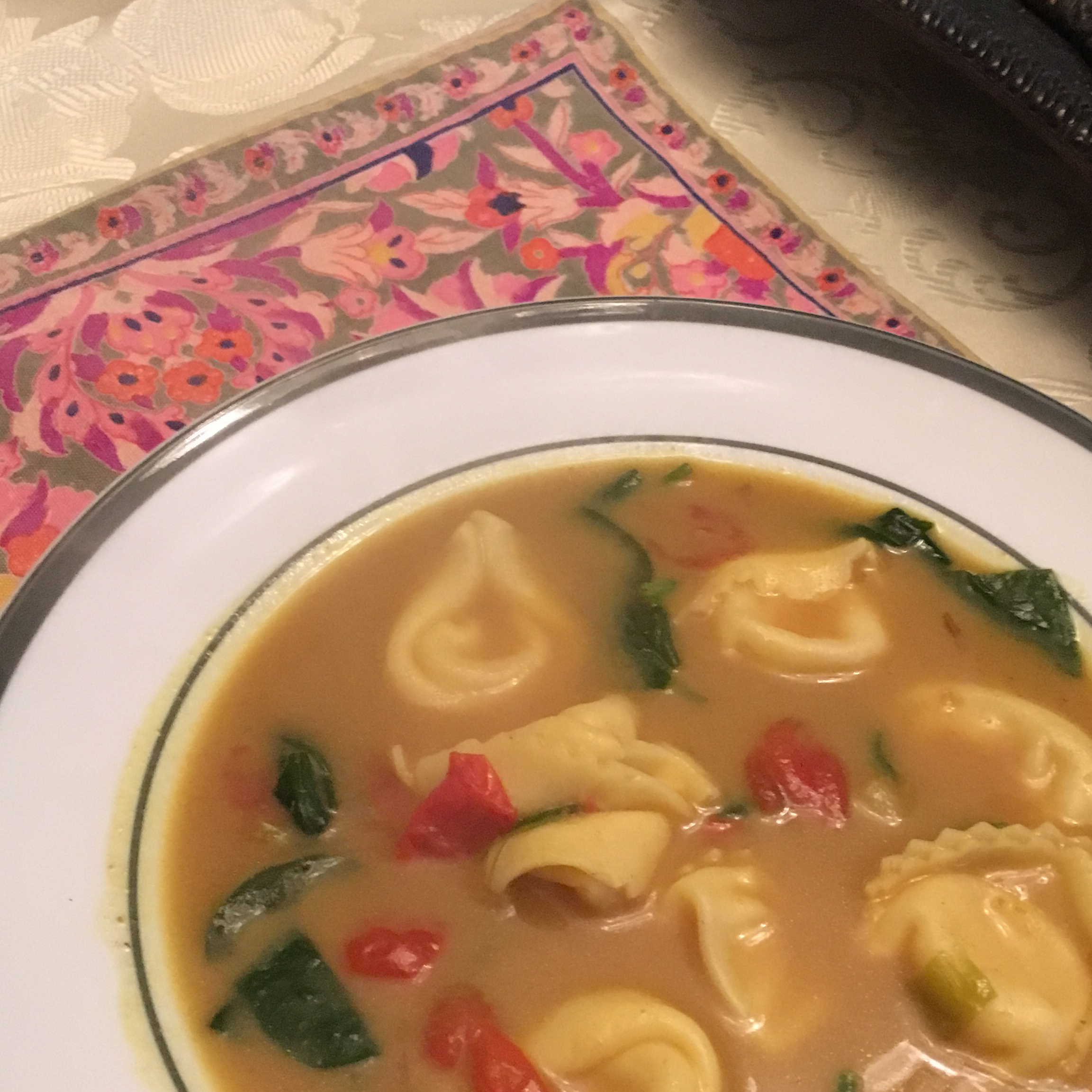 Cheese Tortellini in Curried Coconut Milk Chef_Acceber