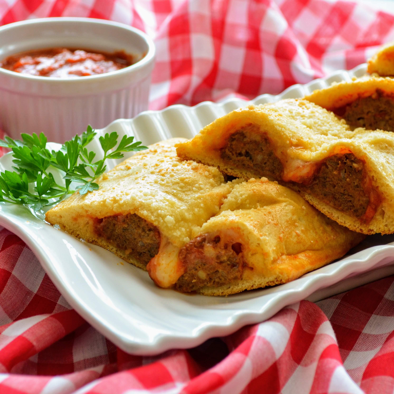 Cheesy Italian Meatball Pockets