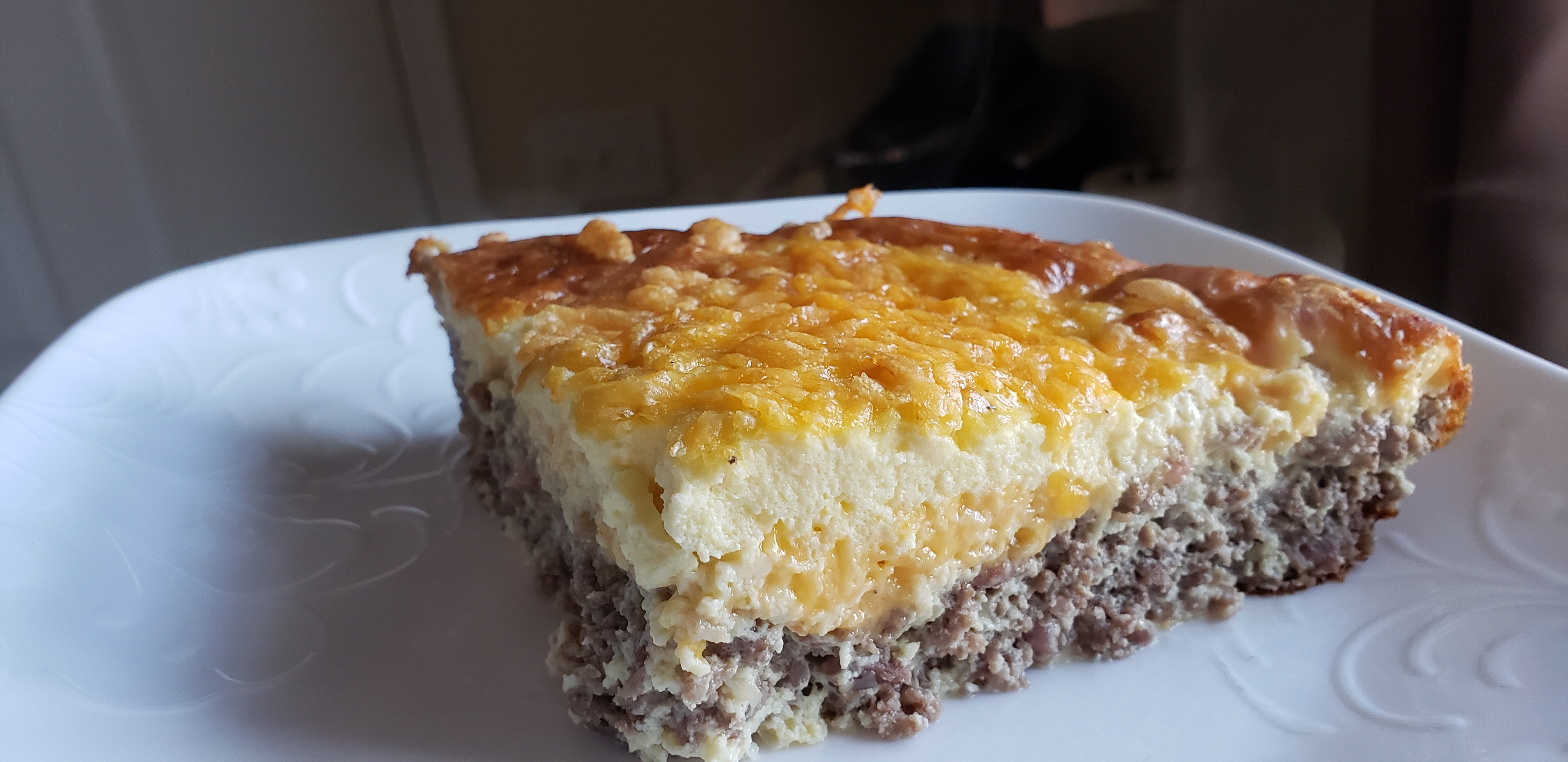 Crustless Cheeseburger Quiche MelMamaof2