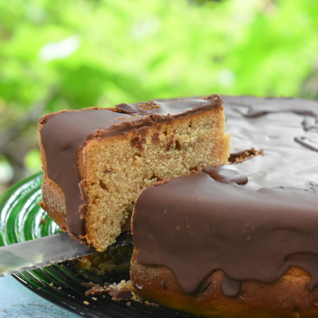 Chocolate-Glazed Honey Cake
