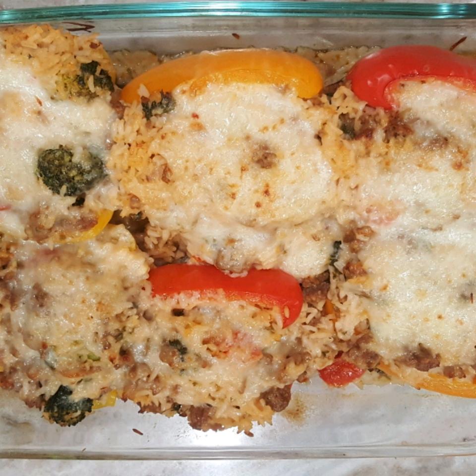 Basmati Rice and Turkey Stuffed Peppers scdew