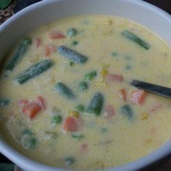 Cheesy Vegetable Soup I wannabe chefette