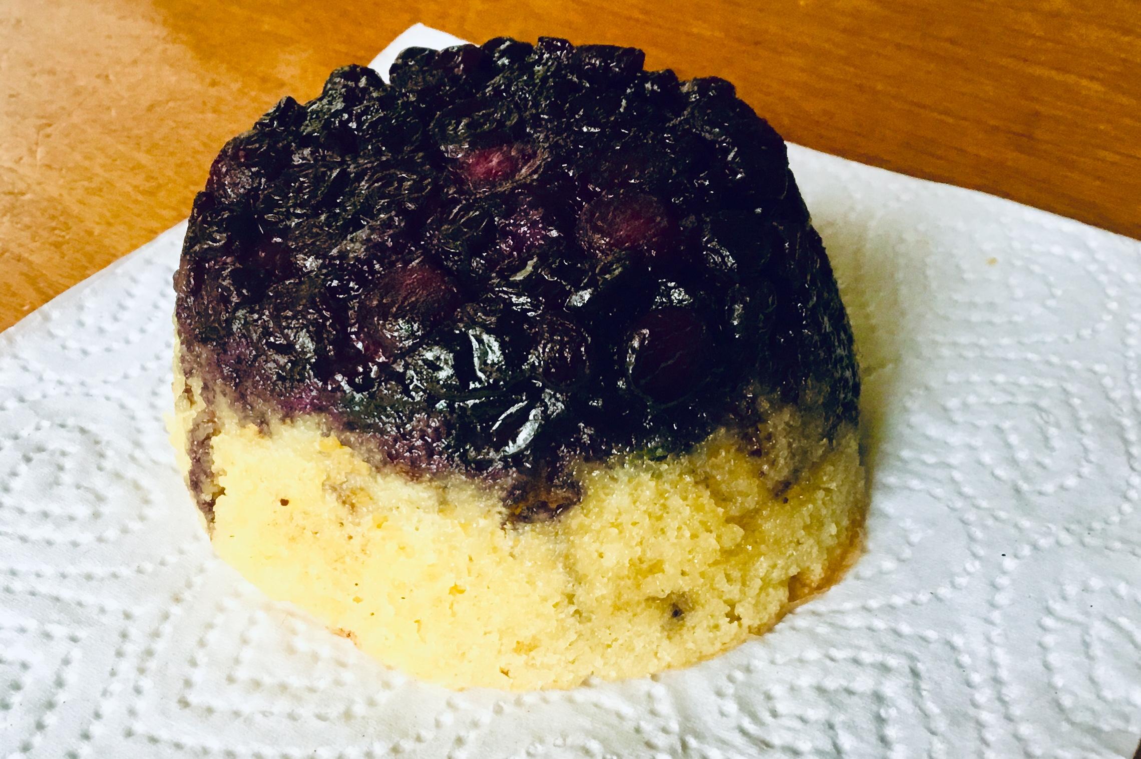 Blueberry Upside-Down Mini Cakes